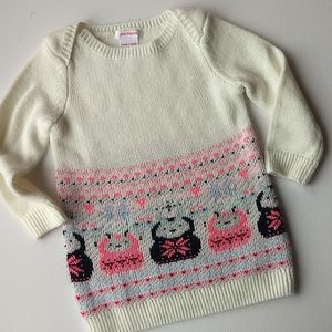 Long Knit Sweater Bunny Dress * Size 12-18M